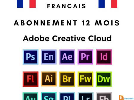 Abonnement Adobe Creative Cloud 12 mois