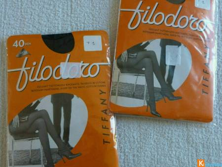 Lot de 2 collants taille 1 neuf Filodoro (97)