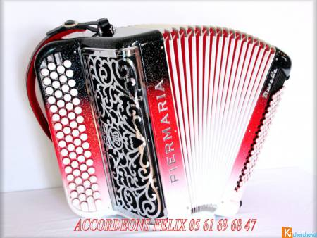 ACCORDEON PIERMARIA P 318 L PROFESSIONNEL MUSETTE.