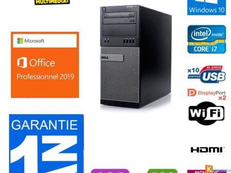 PC DELL OPTIPLEX 7010 CORE I7 3770 120 GO SSD 500