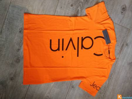 T-shirt Calvin Klein Orange Fluo XL