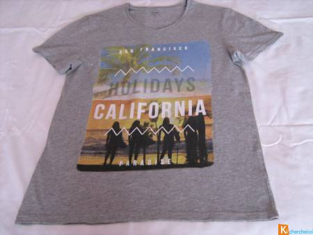 Tee-shirt gris California