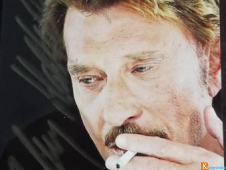 photo en couleur Johnny Hallyday  f