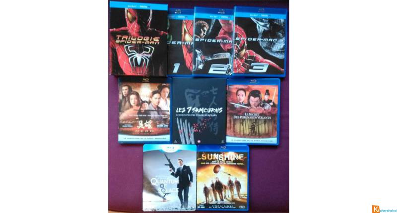 Lot de 10 films Blu-ray en Version originale