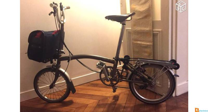 Vélo Brompton raw lacquer