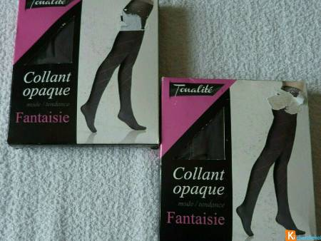 Lot de 2 collants gris taille 3 neuf (92)