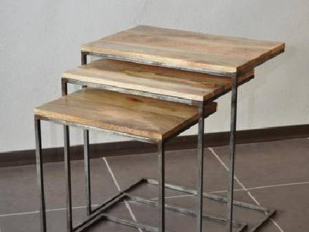 Lot ed 3 tables gigognes
