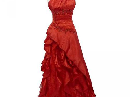 Robe Gde Taille Froufrou rouge