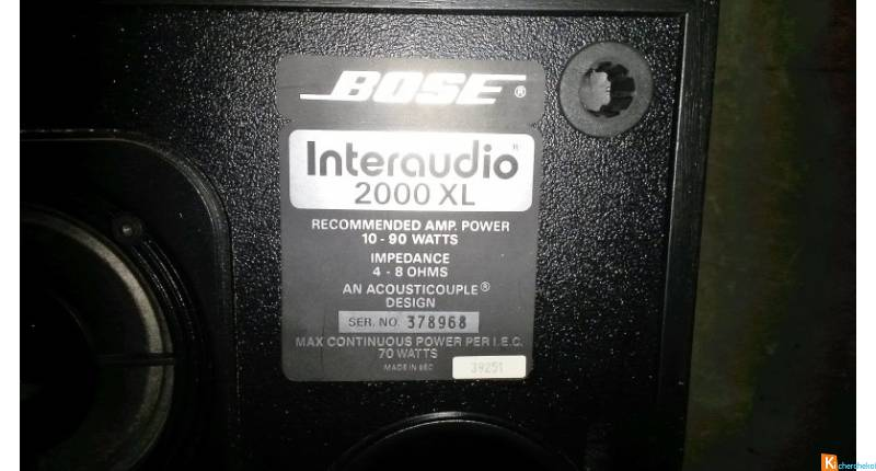 1 enceinte bose interaudio 2000xl