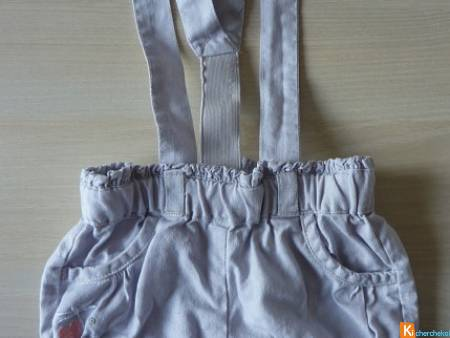 Short gris taille 12 mois G'baby (occas26)