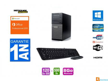 Pc Dell Optiplex 7020 Core i5 4590 120 Ssd 500Go