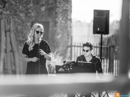 Duo chanteuse pianiste cocktail mariage Yvelines