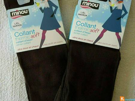 Lot de 2 collants marron taille L neuf (lot5)