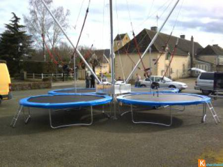 Trampoline Bungee 4 pistes