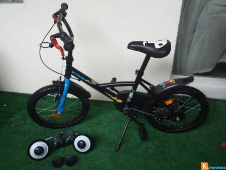 "VELO ENFANT BITWIN ""PIRATE"" + ROULETTES (4/6 ans)"