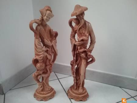 Couple de statues chinoises