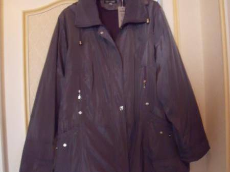 parka gris taille 50 neuf
