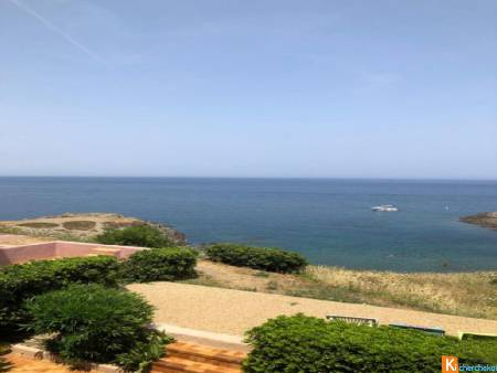 EXCLUSIVITE ENTRE COLLIOURE ET PORT-VENDRES APPARTEMENT VUE MER IMPRENABLE
