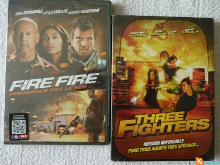 Lot 2 DVD Fire with Fire - Three Fighters neuf
