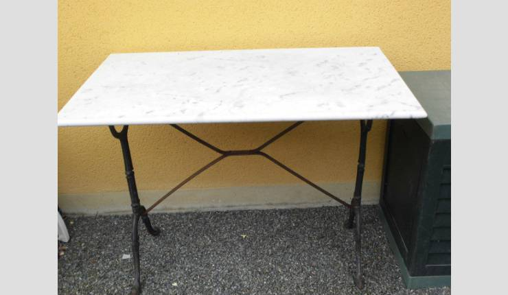 Tables Bistrot Occasion Table Bistrot Plateau Marbre