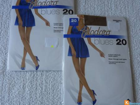 Lot 2 Collants beige taille 2 neuf Filodoro (120)