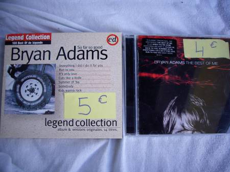 CD de Bryan ADAMS, BON JOVI et Barry WHITE