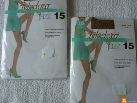 Lot 2 Collants beige taille 2 neuf filodoro (122)