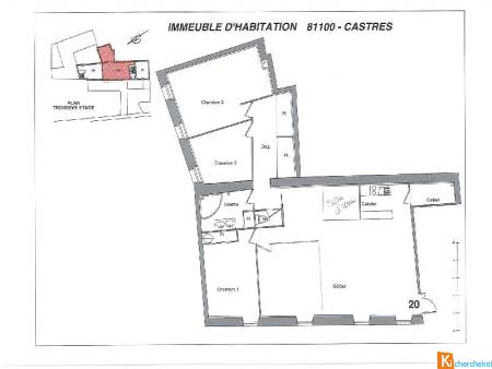 Appartement 20 - Immeuble d'habitations de 6 lots-Quartier du mail