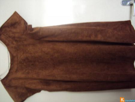 robe marron pull and bear