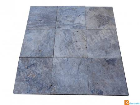 Travertin Silver Gris 40x40 cm 2cm Rustique