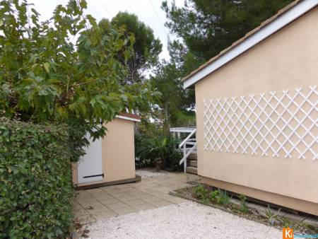 Chalet 2 chambres sur camping Hérault