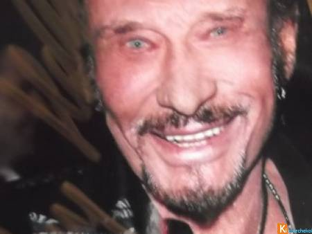 photo en couleur Johnny Hallyday