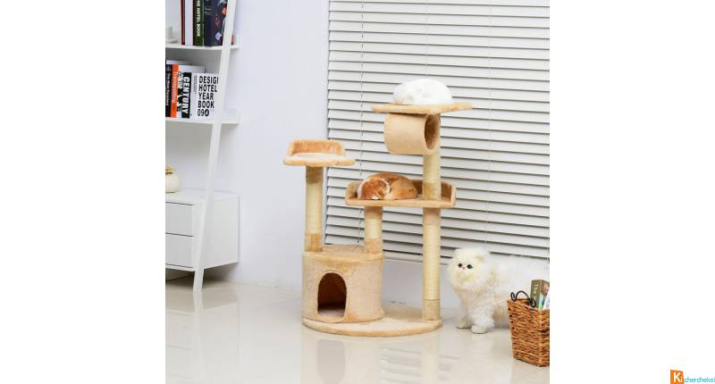 Arbre à chat avec sisal naturel