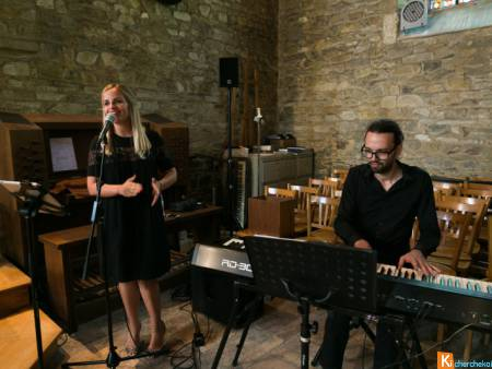Duo chanteuse pianiste messe mariage Eure