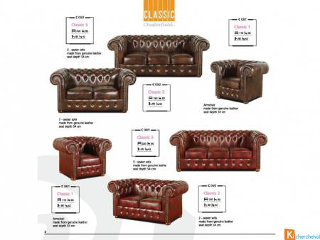 Complet Chesterfield Classic Chic-Confort