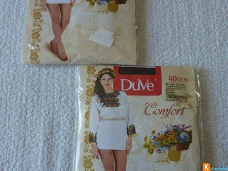 Lot de 2 collants taille 2 neuf Duve (39)