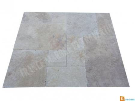 Travertin Beige Big Opus Romain 2cm 1er Choix