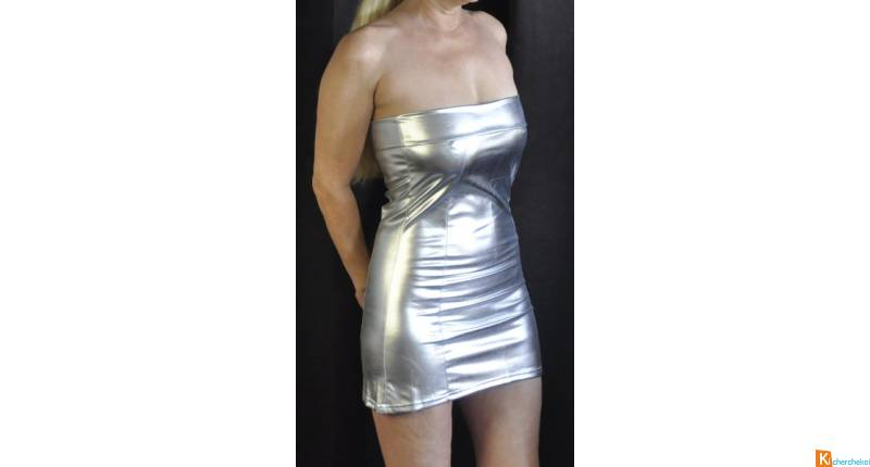 Robe moulante argent sexy