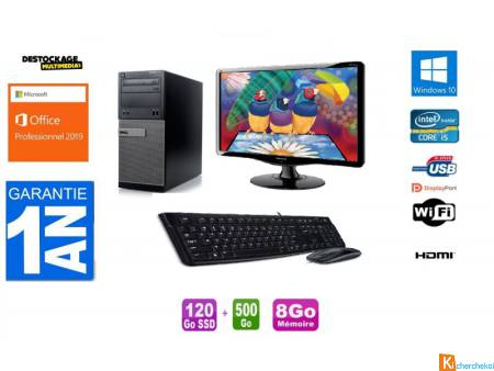 Pc complet Dell Optiplex 7020 Core i5 4590 120 Ssd