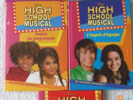 Lot de 5 Livres High school musical