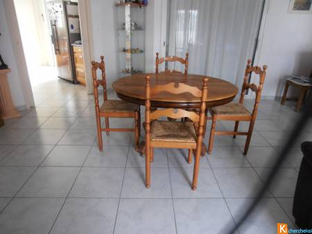table ovale + 4 chaises