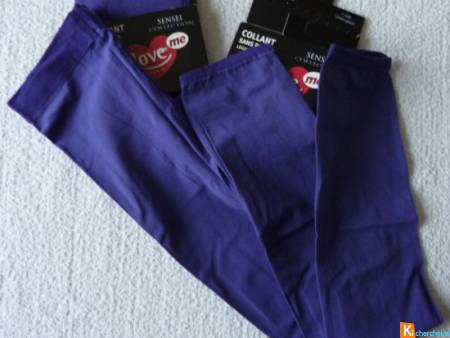 lot de 2 Leggings violet S-M neuf (lot4)