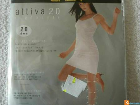 Collant gris voile taille 3 neuf OMSA (117)