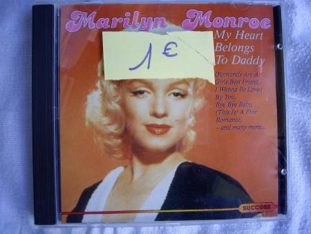 CD de Marilyn, SINATRA, BEACH BOYS, Blues BROTHERS
