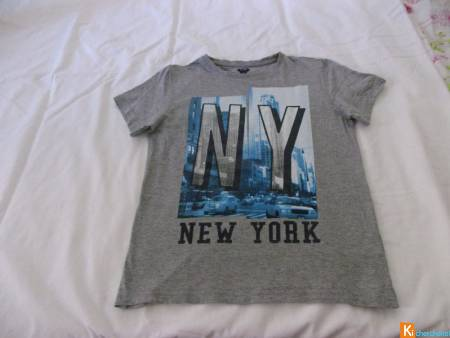 Tee-shirt gris New-York