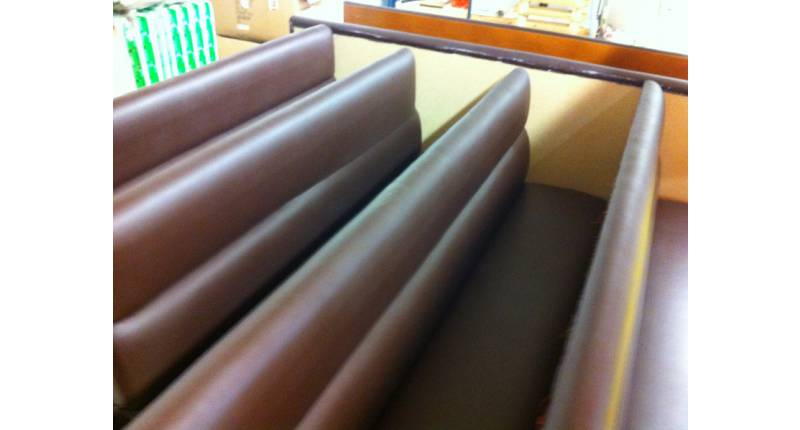 LOT BANQUETTES AGENCEMENT SIMILI MARRON