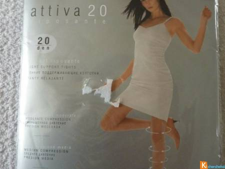 Collant voile gris taille 2 neuf OMSA (130)