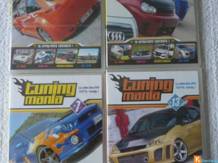 Lot 4 DVD TUNING MANIA divers neuf