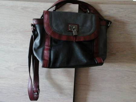 Sac a main bordeaux/gris