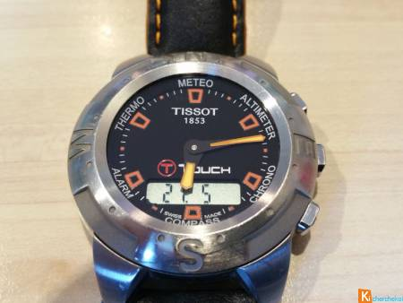 Montre TISSOT TOUCH ORANGE NOIRE RARE